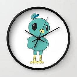 Green Bird Wall Clock
