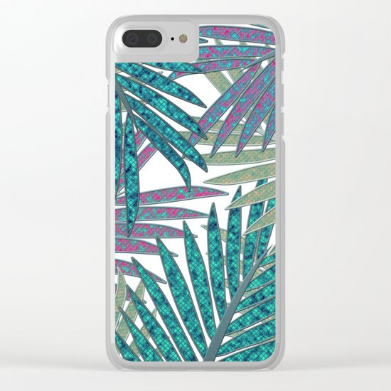 TROPICAL LEAVES GARDEN W Clear iPhone Case