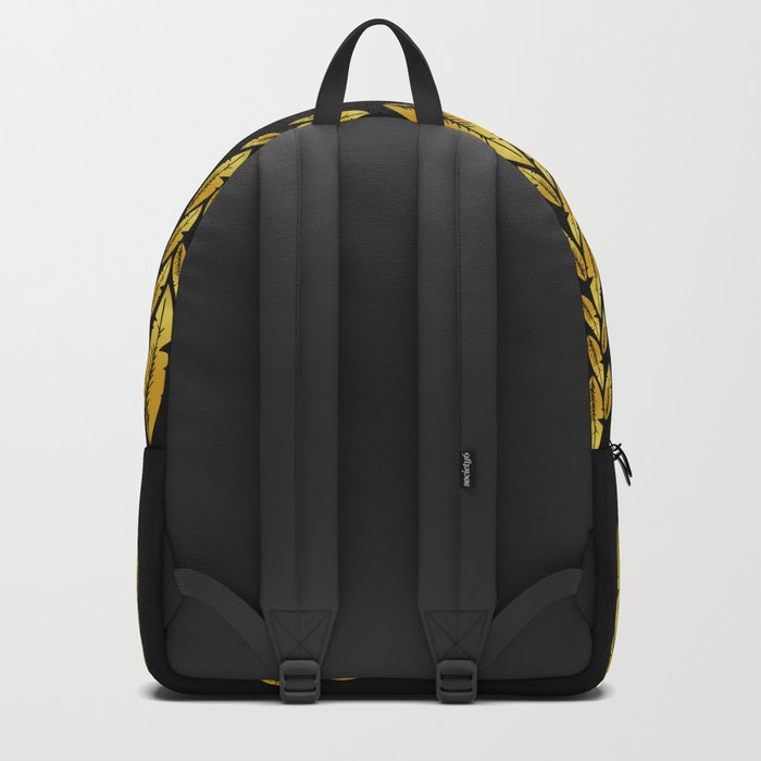 Gold feathers Backpack