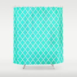 Morrocan Aqua Shower Curtain