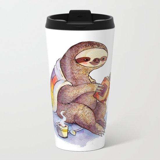 Sloth Metal Travel Mug