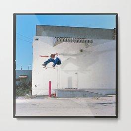 Alex Moul - Skateboard Kickflip Metal Print