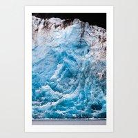 Glacier Face, Alaska Art Print