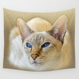 SIAMESE CAT LOVE Wall Tapestry
