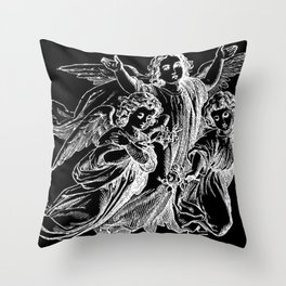 Angels | Cherubs | Vintage | Gothic | Subculture Throw Pillow