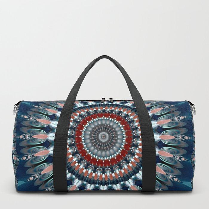 Festive Winter Night Mandala Duffle Bag