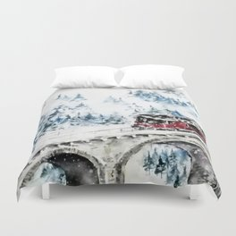 Winter Travel Duvet Cover