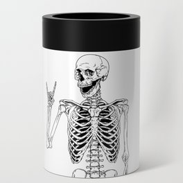 Rock and Roll Skeleton Can Cooler