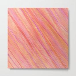 Saturn Pink Metal Print
