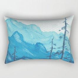 Tonal Mountain Study 1 Blue Rectangular Pillow
