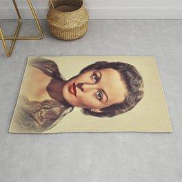 Jeanne Crain, Vintage Actress Rug