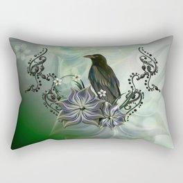 Wonderful raven Rectangular Pillow