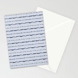 Denim Cloud Stripe 1 Stationery Cards