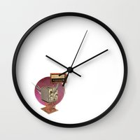 walrus Wall Clocks featuring Walrus by Imanol Buisan
