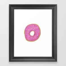 Pink Frosted Donut Framed Art Print
