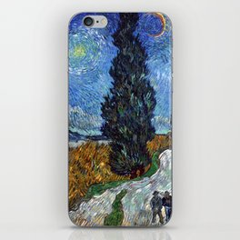 Vincent van Gogh - Road with Cypress and Star iPhone Skin