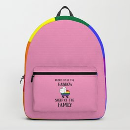 Proud To Be The Rainbow Sheep Of The Family Quote Backpack