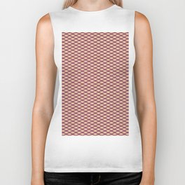 Purple Fishnet Texture on Pale Skin Biker Tank