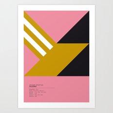 Palermo geometric logo Art Print