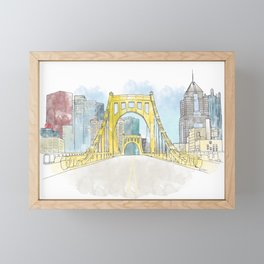 Roberto Clemente Bridge Framed Mini Art Print