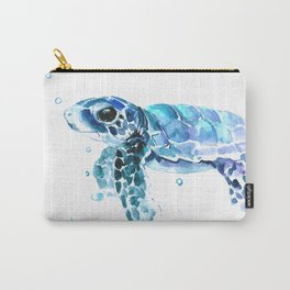 Sea Turtle Tortoiseblue turtle cartoon children art Carry-All Pouch