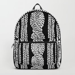 Cable Stripe Black Backpack