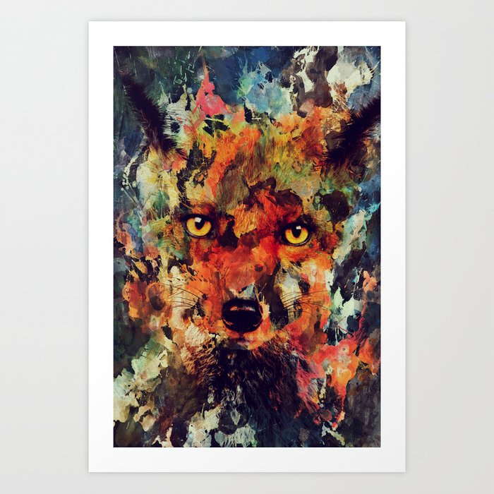 Discover the motif WATERCOLOR FOX by Andreas Lie  as a print at TOPPOSTER