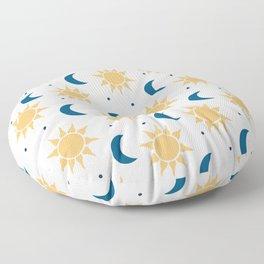 Sun & Moon Pattern - White Floor Pillow