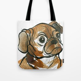 Tea Pug Puppy Tote Bag