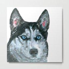 Husky printed from an original painting by Jiri Bures Metal Print