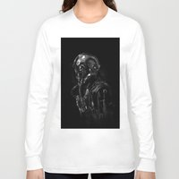 pilot Long Sleeve T-shirts featuring Pilot 01 by Rafal Rola