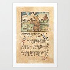 Alchemy Notebook: Moonrise Art Print