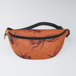 ORANGE CHEVRON BEES Fanny Pack