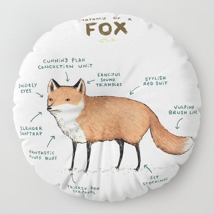 Anatomy of a Fox Floor Pillow