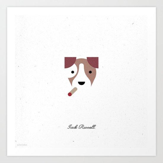 Pedigree: Jack Russell Art Print