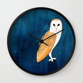 Barn owl (Tyto alba) Wall Clock