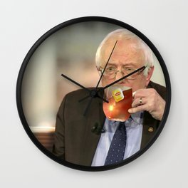 This Tea Berns Wall Clock