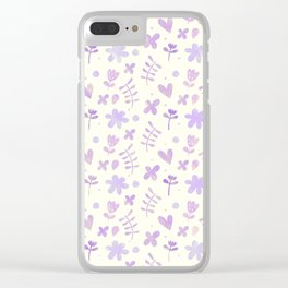 Floral Pattern #4 Clear iPhone Case