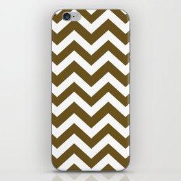 Field drab - green color - Zigzag Chevron Pattern iPhone Skin