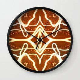 Night Lights Long Exposure Fractal Wall Clock