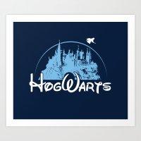 hogwarts Art Prints featuring HOGWARTS by Bilqis
