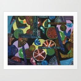 Abstract Fruits Art Print