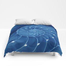 Malibu Blu Mood - Chambered Nautilus  Comforters