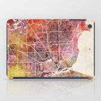 detroit iPad Cases featuring Detroit by MapMapMaps.Watercolors