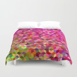 Girly cube structure Duvet Cover
