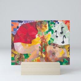 Dana Schutz Crapping and Braiding Mini Art Print
