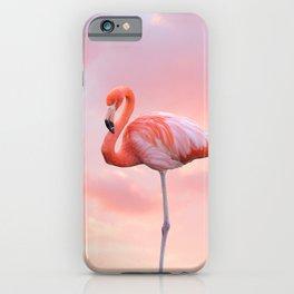 Pink Flamingo Sunset iPhone Case