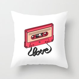 Music is Love Throw Pillow
