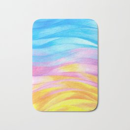 Lightness I- Colored pencils Bath Mat