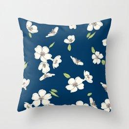 """Cherry blossoms """"White Sakura"""" Throw Pillow"""